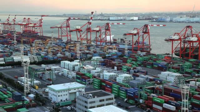 Cargo Container Port, Odaiba, Tokyo, Asia