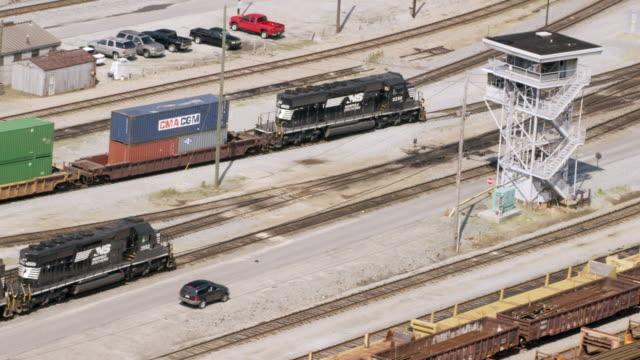 MS TS HA POV Cargo container train in Inman Yard / Atlanta, Georgia, United States