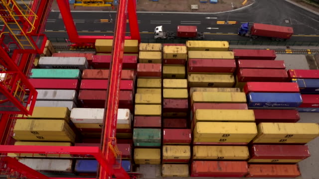 cargo containers in the port of liverpool - cargo container stock videos & royalty-free footage