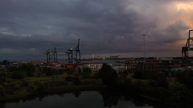 cargo port - industrial sailing craft stock videos & royalty-free footage
