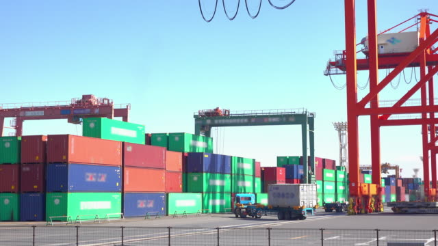 Cargo sea port -4K-