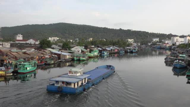 PAN/ Cargo ship leaving Duong Dong harbour