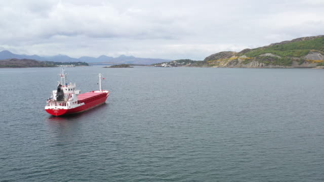 cargo ship on travel - hebrides stock videos & royalty-free footage