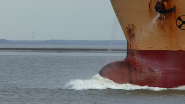 cargo ship's bow and deck - ship's bow stock videos & royalty-free footage