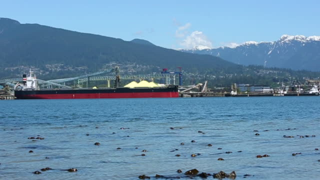cargo ships in vancouver - inlet stock videos & royalty-free footage
