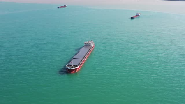 cargo ships standing on the roadstead. - 4k resolution stock videos & royalty-free footage