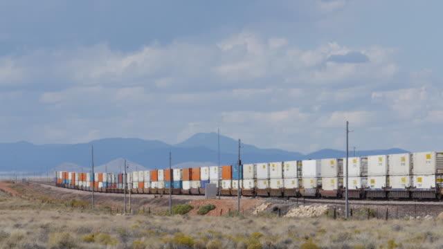Cargo train runs in the southwest of USA