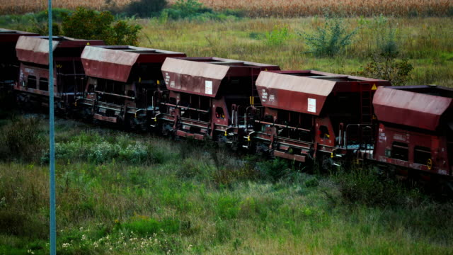 cargo train with coal wagons. - serbia stock videos & royalty-free footage