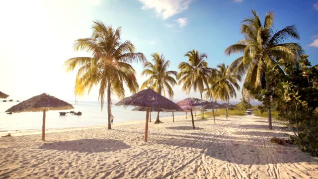 Karibischer Sonnenuntergang am Strand