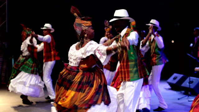 a caribbean dance ensemble dances afro-caribbean dances - caribbean stock videos & royalty-free footage