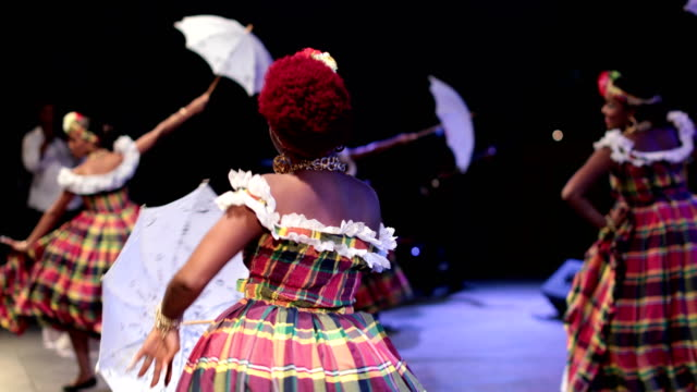 a caribbean dance ensemble dances afro-caribbean dances - tradition stock videos & royalty-free footage