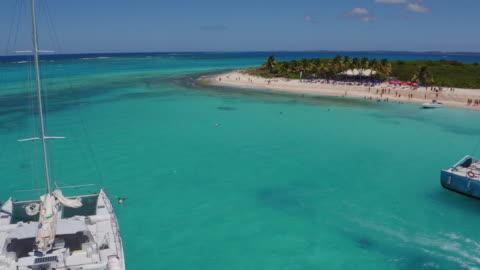 caribbean sea - drone view - caribbean sea stock videos & royalty-free footage