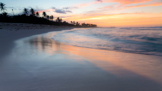caribbean sunset - punta cana stock videos and b-roll footage