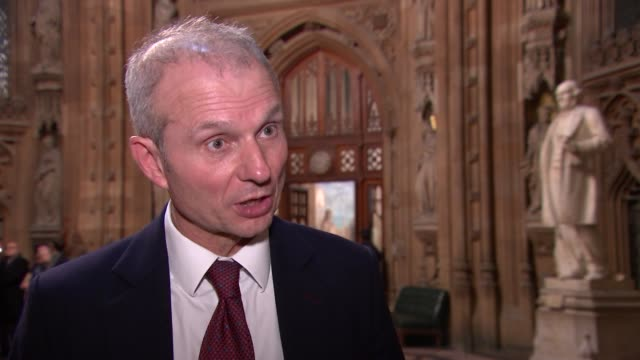 David Lidington interview ENGLAND London Commons Lobby INT David Lidington MP interview SOT