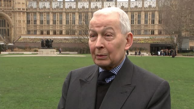 MP's accuse Carillion's bosses of failing in obligations to pension fund London Westminster Frank Field MP interview SOT