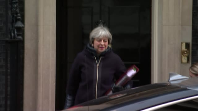 no bonuses for directors following liquidation england london downing street ext prime minister theresa may mp from number 10 and to car as leaving... - liquidation stock videos and b-roll footage
