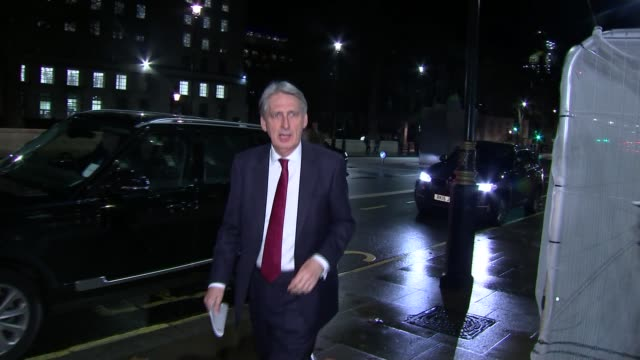 London Whitehall PHOTOGRAPHY** Philip Hammond MP out of car and arriving at building for COBRA meeting
