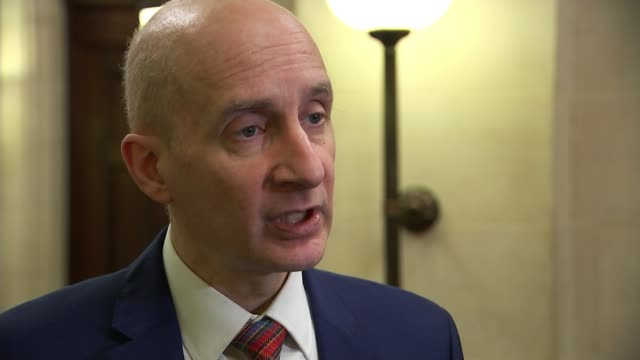 carillion goes into liquidation lord adonis interview sot - liquidation stock videos and b-roll footage