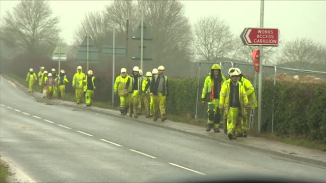 Carillion workers leaving after the company went into liquidation