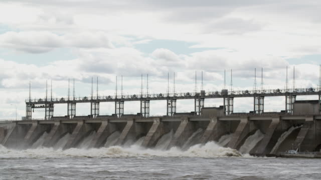 Carillon Generating Station with high water levels during Eastern Canada flood