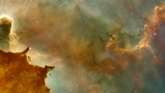 carina nebula, hst view - hubble space telescope stock videos & royalty-free footage