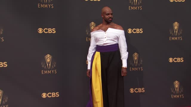carl clemons-hopkins arrives to the 73rd annual primetime emmy awards at l.a. live on september 19, 2021 in los angeles, california. - emmy awards stock videos & royalty-free footage