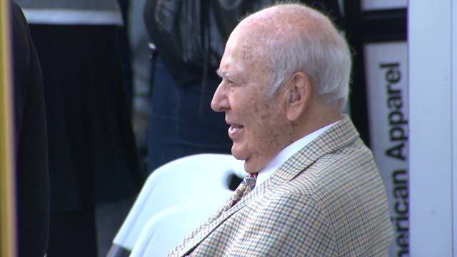 carl reiner at the jon cryer honored with star on the hollywood walk of fame at hollywood ca - jon cryer video video stock e b–roll