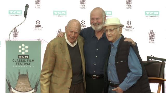 carl reiner rob reiner norman lear at the 2017 tcm classic film festival carl reiner and rob reiner hand and footprint ceremony at the tcl chinese 6... - norman lear stock videos and b-roll footage