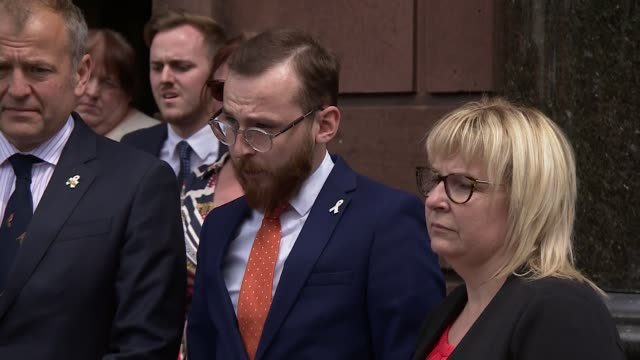 coroner concerned at lack of support for ministers who lose their jobs wales denbighshire ruthin ext various of jack sargeant am making statement... - inquest stock videos and b-roll footage