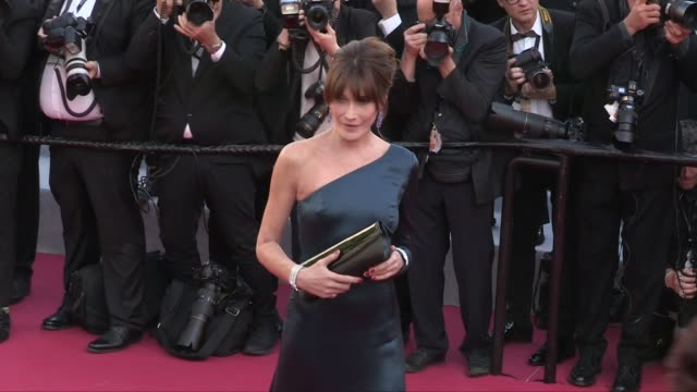 Carla Bruni Melissa Satta on the red carpet for the screening of Les Miserables during the 72nd annual Cannes Film Festival Cannes France on...