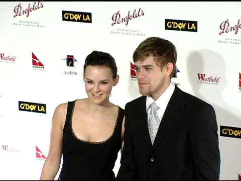 carla gallo and nick stahl at the g'day la penfolds black tie gala dinner at the century plaza hotel in century city california on january 15 2005 - stahl stock videos & royalty-free footage