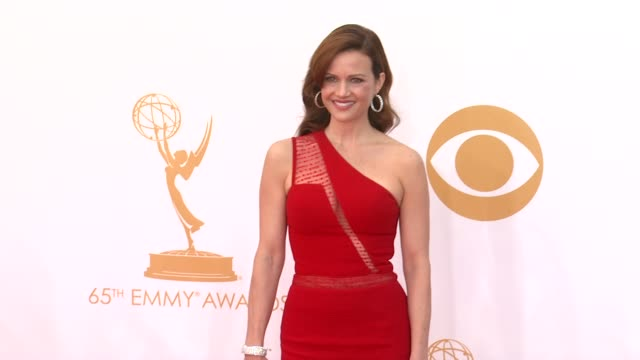 carla gugino at the 65th annual primetime emmy awards arrivals in los angeles ca on 9/22/13 - annual primetime emmy awards stock-videos und b-roll-filmmaterial