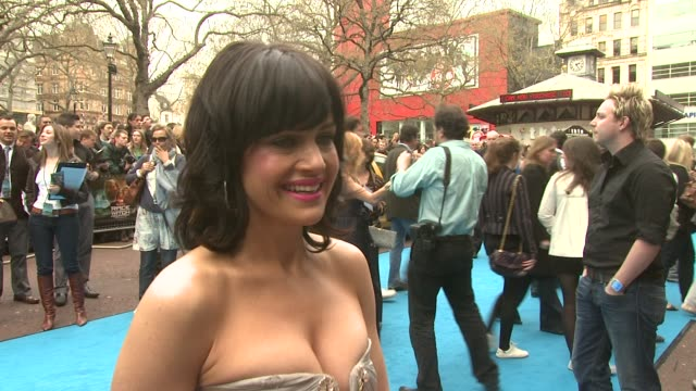 carla gugino at the race to witch mountain uk premiere at london - witch stock videos & royalty-free footage