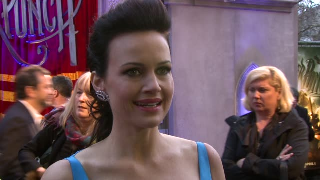 Carla Gugino at the Sucker Punch UK Premiere at London England