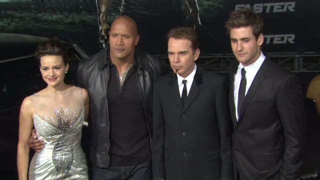 Carla Gugino Dwayne Johnson Billy Bob Thornton at Grauman's Chinese Theatre on November 22 2010 in Hollywood California
