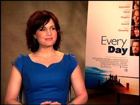 carla gugino on her character, robin. at the 'every day' junket at hollywood ca. - robin day stock videos & royalty-free footage