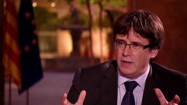 Carles Puigdemont saying if the majority of Catalans want an independent state then there must be a political response