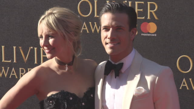 vidéos et rushes de carley stenson danny mac at olivier awards with mastercard on april 09 2017 in london england - mac