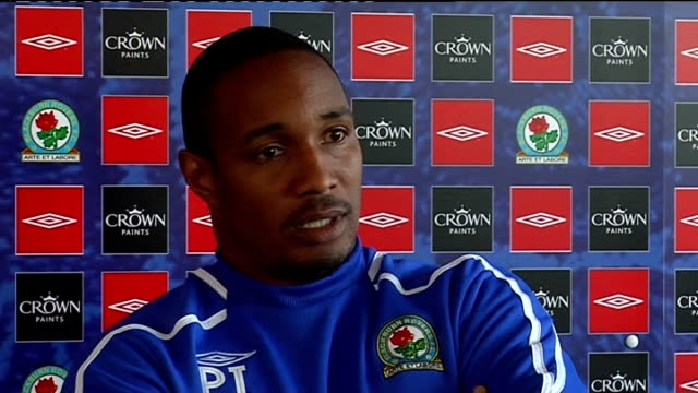 Blackburn Rovers press conference ENGLAND Blackburn EXT Paul Ince press conference SOT Talks about injuries he has for game against Everton / Want to...