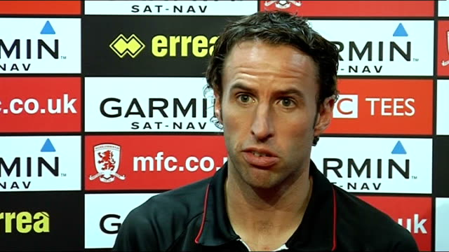 middlesbrough: gareth southgate press conference; england: middlesbrough: int press conference set-ups gareth southgate press conference sot - not... - performance improvement stock videos & royalty-free footage
