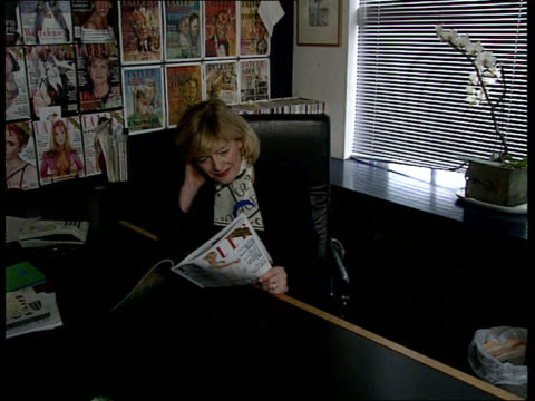carling/ diana affair tcms jane proctor looking at magazine in office cms jane procter intvw sot now when another affair appears to be provable it... - julia carling stock videos and b-roll footage