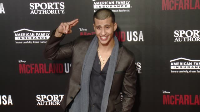 "carlito olivero at the ""mcfarland, usa"" los angeles premiere at the el capitan theatre on february 09, 2015 in hollywood, california. - el capitan theatre stock videos & royalty-free footage"
