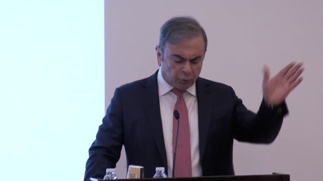 carlos ghosn saying he was being pressured to confess by the japanese prosecutor - confession law stock videos & royalty-free footage