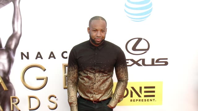 carlos king at 47th annual naacp image awards at pasadena civic auditorium on february 05 2016 in pasadena california - pasadena civic auditorium stock-videos und b-roll-filmmaterial