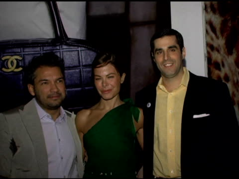 carlos mota allison sarafin and ceo bergdorf goodman jim gold at the bergdorf goodman and new museum of contemporary art collaboration to celebrate... - bergdorf goodman stock videos and b-roll footage