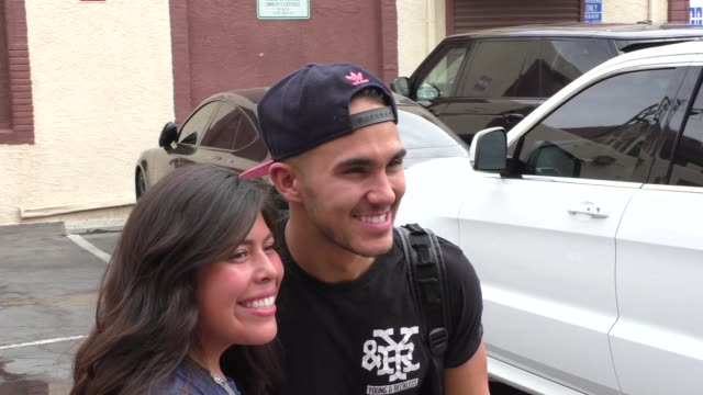 Carlos PenaVega on where he was on 9/11 outside the 'Dancing with the Stars' rehearsal studio in Hollywood at Celebrity Sightings in Los Angeles on...