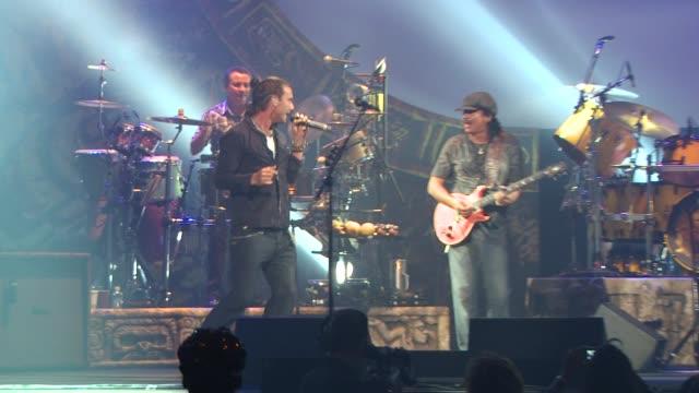 Carlos Santana and Gavin Rossdale at the Clive Davis Carlos Santana Host VIP Listening Party at Las Vegas NV