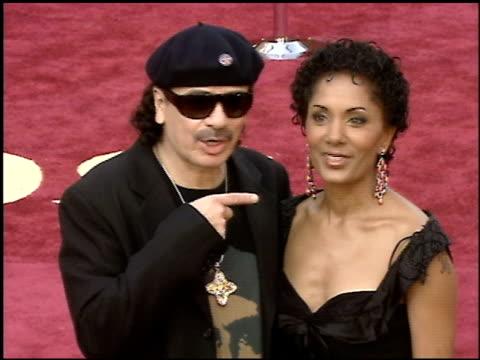 carlos santana at the 2005 academy awards at the kodak theatre in hollywood california on february 27 2005 - 第77回アカデミー賞点の映像素材/bロール