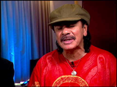 Carlos Santana on whether or not he's spoken with any of the musicians he covered on the new album at the Interview with Clive Davis and Carlos...
