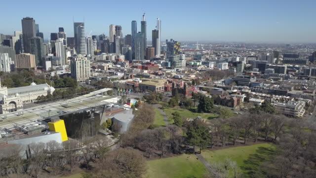 carlton gardens and melbourne cbd, victoria, australia - exhibition stock videos & royalty-free footage